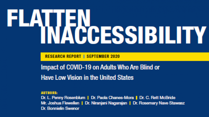 Cover page of the Flatten Inaccessibility study, sourced from American Foundation for the Blind
