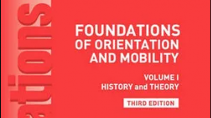 Front cover of Foundations of Orientation & Mobility textbook